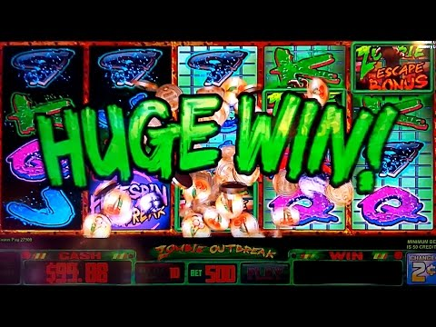 Zombie Outbreak Slot $10 Bet *VICTORIOUS HUGE WIN* Zombie Escape Bonus!