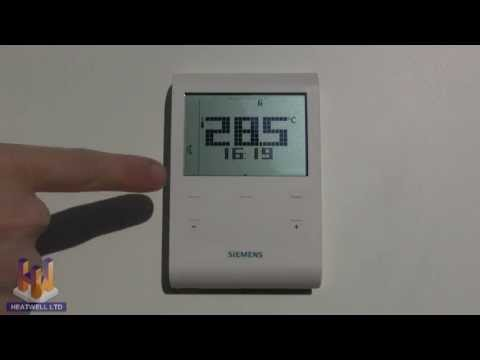 Video heatwell thermostat programming video for siemens for Manual termostato equation