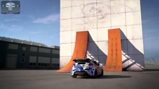 La voiture fait des figures sur un mur vertical