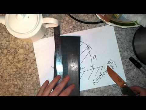 Как измерить угол заточки ножа, на примере Ontario RAT Model 1