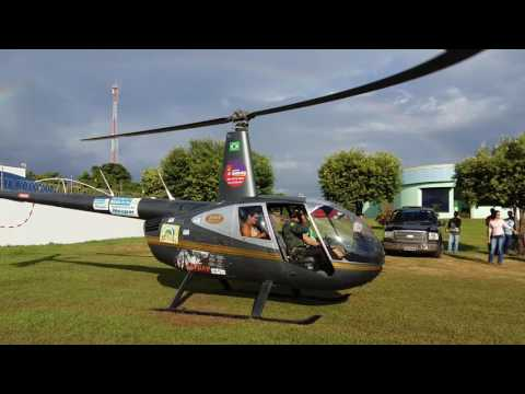 Vôo panorâmico de helicóptero com sorteados em Paranatinga
