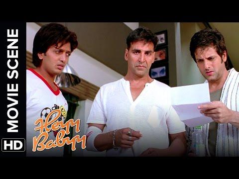Akshay finds a baby at his doorstep | Heyy Babyy | Movie Scene