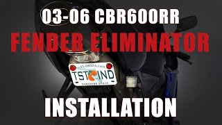6. How To Install Fender Eliminator Honda 2003-2006 CBR 600RR by TST Industries