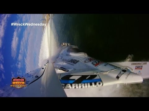 Quickest Boat In the World Wrecks at the Lucas Oil Drag Boat World Finals - WW #55