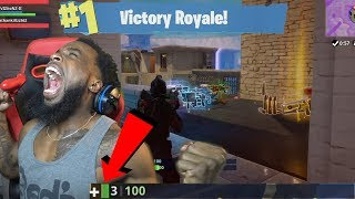 GREATEST WIN OF FORTNITE IN MY HISTORY! WON WITH 3 HP! FORTNITE FUNNY MOMENTS AND RAGE #4