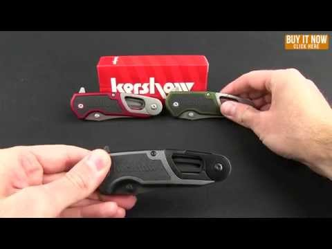 "Kershaw Funxion DIY Assisted Opening Knife Red (3"" Satin) 8200RD"