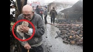 W pożarze stracił dom, ale nie stracił najważniejszego…