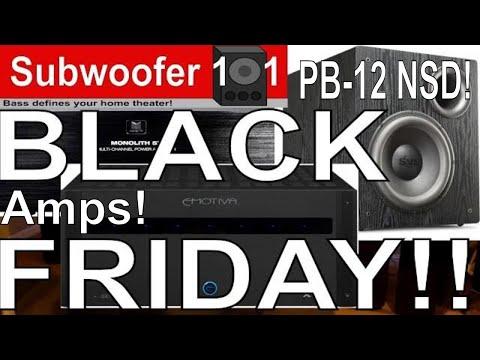BEST BLACK FRIDAY DEALS Subwoofers AVRS Power Amplifiers