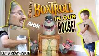 There's a BOXTROLL in our House!  (FGTEEV GAMEPLAY / SKIT with BOXTROLLS iOS Game)