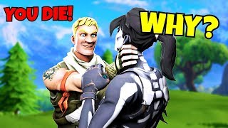 i can ONLY kill SEASON 6 skins in fortnite... (very sad)
