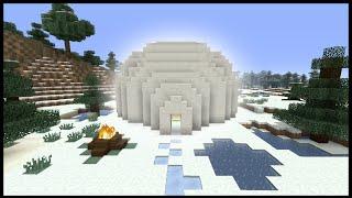 Minecraft Tutorial: How To Make An Igloo (Biome House)