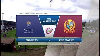 2018 FNB Varsity Cup Rugby - Wits vs Maties