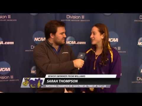 Sarah Thompson, Williams - 1650 Free Women's Champion Post-Race Interview