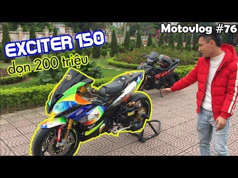 Review Exciter 150 độ 200 triệu, đầu BMW, đuôi Ducati, khủng nhất Miền Bắc | Motovlog 76 - Thời lượng: 12 phút.