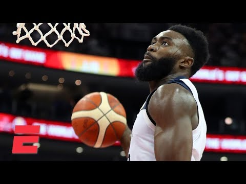 Video: Jaylen Brown and Team USA put on dunk show in blowout win over Japan | 2019 FIBA World Cup