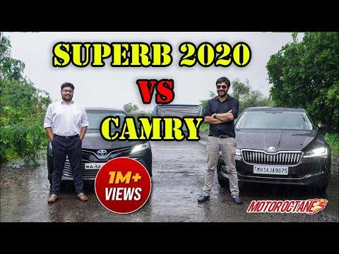 Skoda Superb 2020 vs Toyota Camry Comparison | Hindi | MotorOctane