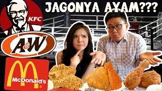Video KFC vs A&W vs Mcdonald's FRIED CHICKEN TEST !!! MP3, 3GP, MP4, WEBM, AVI, FLV Mei 2019