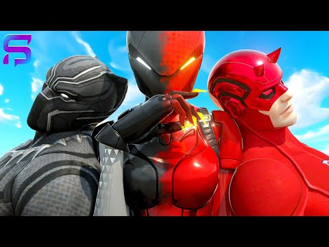 BLACK PANTHER & DAREDEVIL FALL IN LOVE with the SAME SISTER.... ( Fortnite Short)