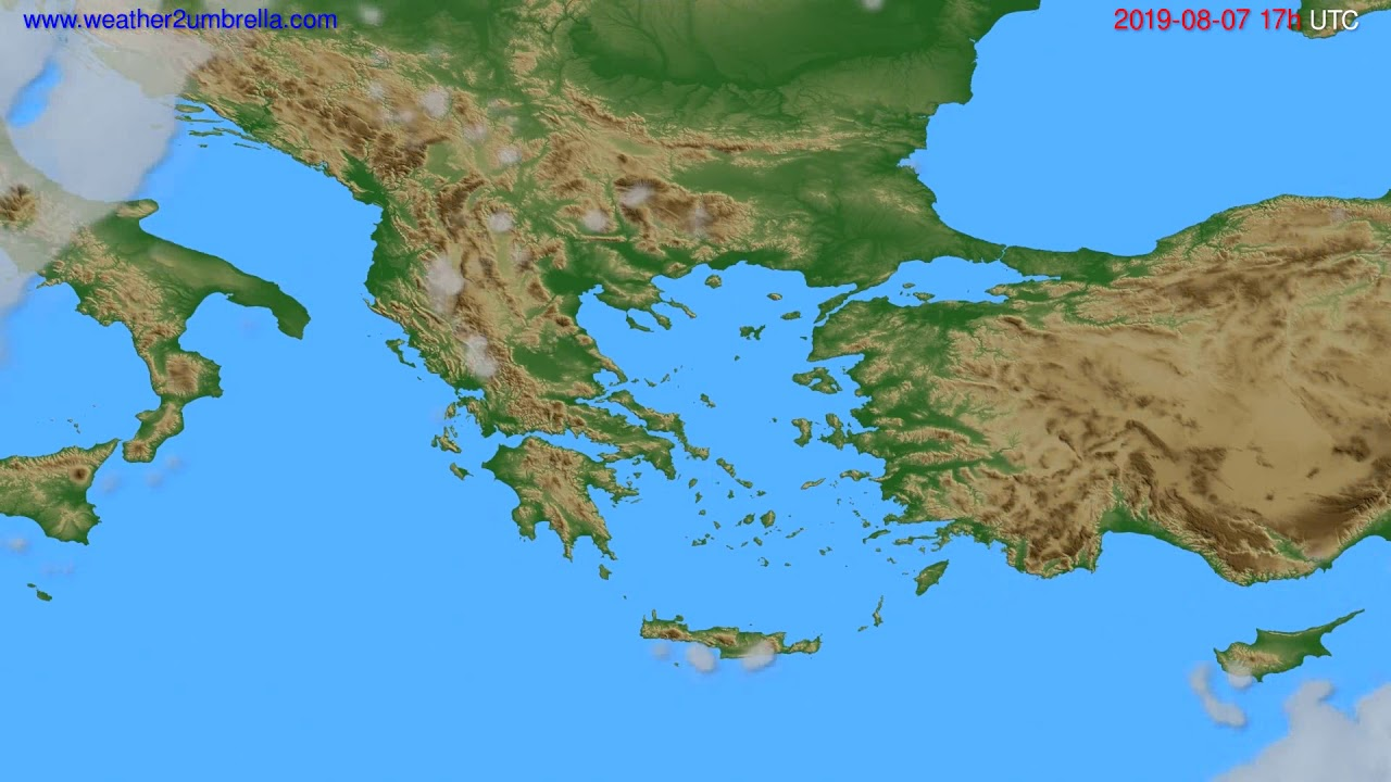 Cloud forecast Greece // modelrun: 00h UTC 2019-08-06