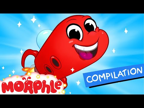 My Red Space Ship + 1 hour non stop kids videos -- my magic pet morphle