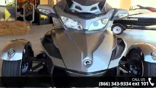 10. 2012 Can-Am Spyder Roadster RT Audio And Convenience  - R...