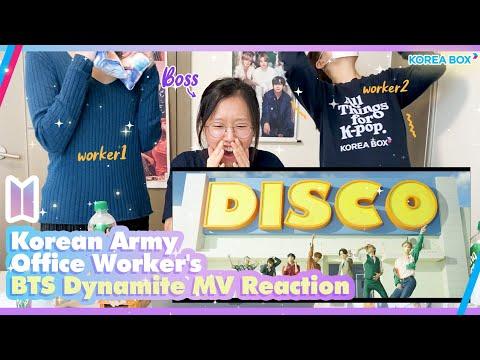 Korean BTS Army Office Workers' BTS Dynamite MV Reaction видео