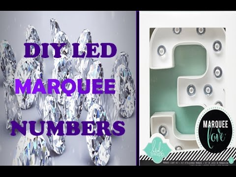 DIY LED Marquee Numbers Letters Lights 30th Birthday Party Decorations