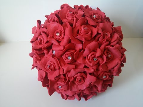 come realizzare uno splendido bouquet in foamy