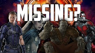 Video Avengers: Infinity War - Every Missing Character (And Where They Were) MP3, 3GP, MP4, WEBM, AVI, FLV Juli 2018