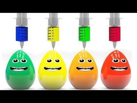 Яйца с сюрпризом Учим цвета Surprise eggs Развивающий мультик для детей Новые 2017 (видео)