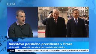 Návštěva polského prezidenta v Praze