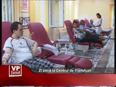Zi plină la Centrul de Transfuzii