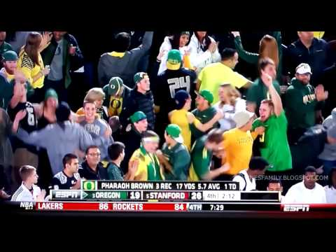 Pharaoh Brown 12-yard touchdown vs Stanford 2013 video.