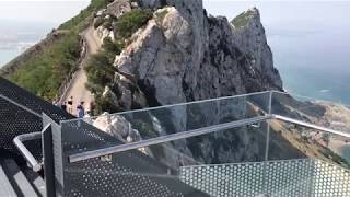 High up in the Gibraltar's Upper Rock is the Sky Walk, a glass structure that takes you over the edge of the rock allowing you to ...