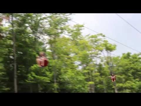 The Sun Mountain Flyer ZipRider at Vermont's Summer Adventure!