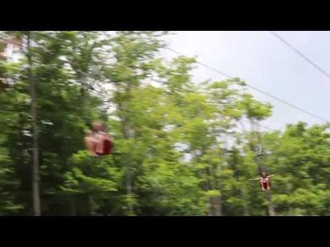 The Sun Mountain Flyer ZipRider at Vermont's Summer Adventure!