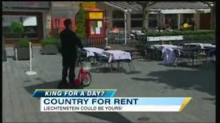 The small nation of Liechtenstein is on the market. For more world news, click here: http://abcnews.go.com/GMA/video/country-rent-13389594.