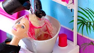 Video Barbie Doll Hair Style Salon - play baby dolls hair cut, hair wash, hair curl in Barbie salon shop MP3, 3GP, MP4, WEBM, AVI, FLV Juli 2018