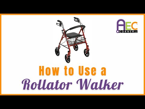 How to Use a Rollator Walker