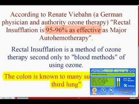 OZONE Rectal Insufflation – A Strong Medicine