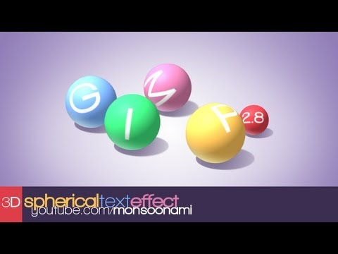 GIMP Tutorial: 3D Spherical Text Effect