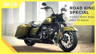 10. Look This! 2018 Harley-Davidson Road King Special Harley's Reflex Brake feature (Green Army)