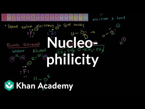 Nucleophilicity Nucleophile Strength Video Khan Academy