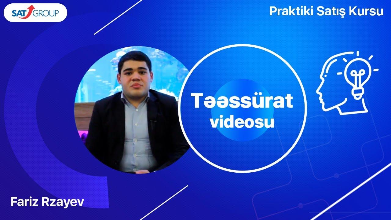 Satış Təlimləri məzunları. Fariz Rzayev – satış təmçilçisi.