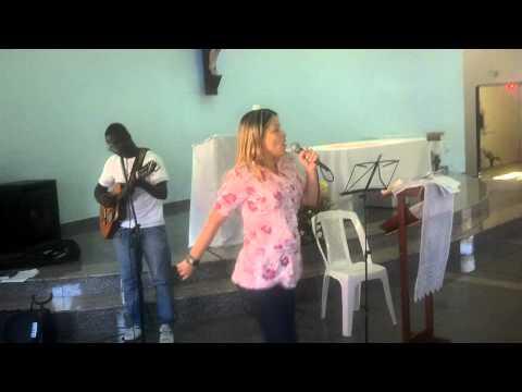Flavia Dornellas animando grupo de oração Santa Clara em Boa Vista I