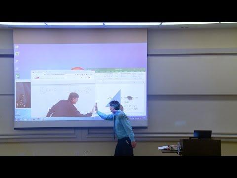 Math Professor Fixes Projector Screen