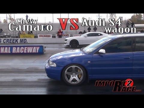 Chevy Camaro vs. Audi S4 Wagon