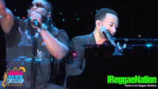 John Legend with Gramps and Tarrus Riley @ Jamaica Jazz and Blues 2013