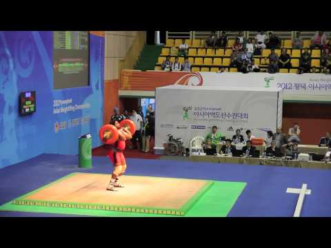 2012 Asian Weightlifting Championships - 105kg men's A group Snatch & Clean and Jerk