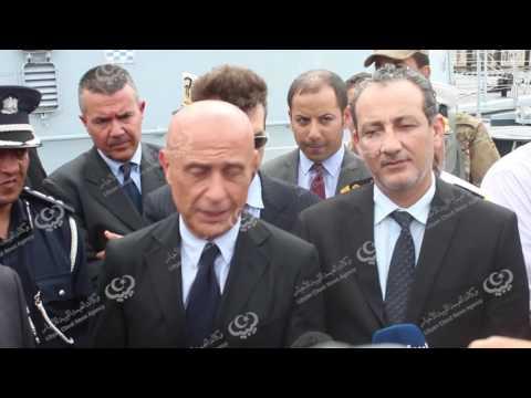 إيطاليا تسلم زوارق إعارة لقوات البحرية